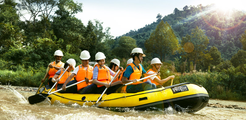 water rafting boat in Madagui Resort
